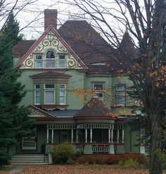 Painted Lady Victorian Home Victorian Architecture, Beautiful Architecture, Beautiful Buildings, Beautiful Homes, Victorian Style Homes, Old Mansions, Second Empire, Historic Homes, My Dream Home