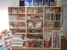 angel crafts, craft supplies, shelving units, sewing rooms, sewing studio, storage ideas, craft storage, craft rooms, craft room design