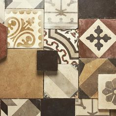 We offer so many different kinds of colored and patterned tiles in cement and marble, we can never choose our favorite. Great for backsplashes, floors and even stairs! Which one do you love the most? #chateaudomingue #architecturalelements #decorative #tiles #interiordesign #exterior #europeanantiques #interior #inspiration