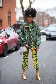 Our favorite street style looks from outside the shows over the weekend. London