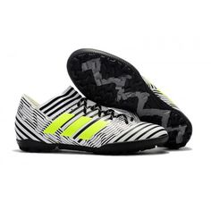 2017 Adidas Nemeziz Tango 17.3 TF Botas de futbol blanco negro verde 910a467161b8d