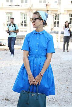 denim'y dress. yes. NJ in Paris. #NatalieJoos