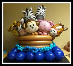 Elegant Balloons, located in Pearl River, provides fabulous balloon decorations to the New York and New Jersey area. Balloon Arrangements, Balloon Centerpieces, Balloon Decorations, Baby Shower Decorations, Balloon Ideas, Noahs Ark Party, Noahs Ark Theme, 1st Birthday Balloons, Baby Shower Balloons