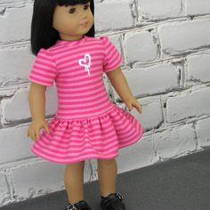 Graffiti Valentine  American Girl Doll by SewFunDollClothes, $22.00