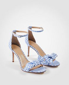 0dcb799b4aed7b Kinsley Gingham Bow Heeled Sandals