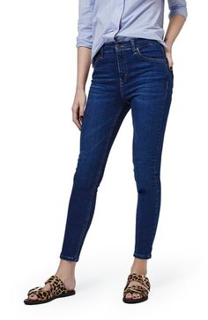 Topshop 'Jamie' High Rise Ankle Skinny Jeans available at #Nordstrom