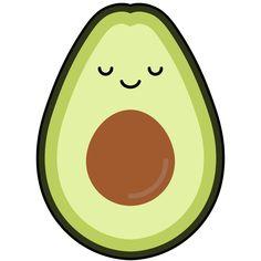Avocado Sticker by Kawaii Designs - White Background - Fabric Patterns, Print Patterns, Shrink Paper, Cute Avocado, Tumblr Stickers, Kawaii Wallpaper, Diy Phone Case, Toot, Chipboard