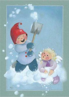 special noel - Page 3 Winter Illustration, Christmas Illustration, Illustration Art, Christmas Clipart, Kids Christmas, Christmas Journal, Creation Photo, Artists For Kids, Old Postcards