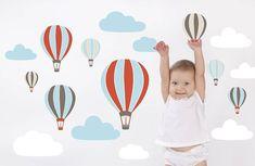 hot air balloons wall stickers by the little blue owl | notonthehighstreet.com