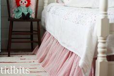 tidbits: A Little Big Girl Bedroom....bed skirt