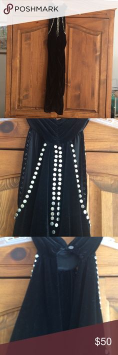 BLACK VELVET STRETCHY MINI ! RUCHING FRONT AND BACK HIGH NECKLINE WITH CUTOUT ON UPPER BACK! SOFT ! NEVER WORN.  THIS IS VICTORIAS SECRET BRAND ! SPECIAL DATE OR CLUB NIGHT  Victoria's Secret Dresses Mini