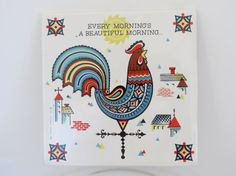 Rooster Berggren Traynor Trivet Tile por VintageCocobytheLake