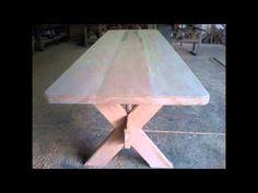 Moveis - Como fazer uma mesa rústica- O melhor foi a reação da esposa - YouTube