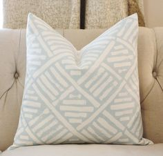 Quadrille Blue Pillow Cover Geometric Pillow Cover Throw by MotifPillows