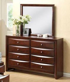 CROWNB4201-Emily Dresser 8 Drawers