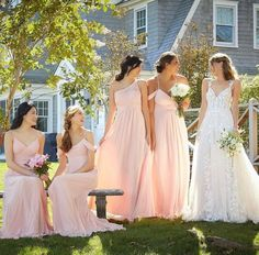 @amandasbridal posted to Instagram: From saying yes to the dress, to finding beautiful gowns for your besties, your personal ABT stylist will guide and assist you every step of the way🌺 Gown: Adelaide💕 Bridesmaids: Mix and Match in the color sorbet💕 All designed by @morileeofficial #abtbridetobe #amandasbridalandtux #coloradobride #rockymountainbride #instawed #denverwedding #weddingdressgoals #coloradowedding #weddingown #denverbride #morileeinstoreboutique #lo Mori Lee Bridesmaid, Bridesmaids, Bridesmaid Dresses, Wedding Dresses, Yes To The Dress, Sorbet, Beautiful Gowns, All Design, Besties