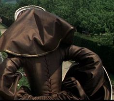 "Anne of the Thousand Days (1969)  Anne Boleyn - brown ""Power"" Gown. One of my faves in close detail."