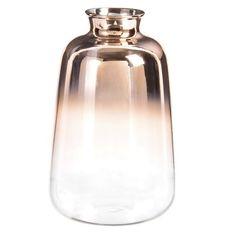 FLAT TOP - Vase en verre cuivré H15