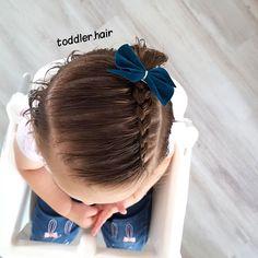 Toddler Hair Dos, Easy Toddler Hairstyles, Easy Little Girl Hairstyles, Girls Hairdos, Side Bun Hairstyles, Baby Girl Hairstyles, Daily Hairstyles, Prom Hairstyles, Hair Due
