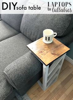 Add style as well as functionality to your living room with this cute DIY Sofa End Table. Keep yourself buy with this amazing weekend project.