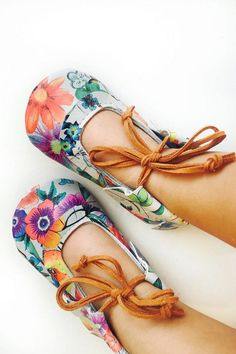 Handmade Leather Flower Garden Flats | AMuseLeatherCo on Etsy