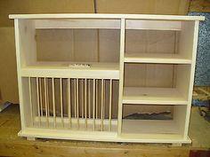 New Triple Shelf Wood Plate Dish Rack Glasses Spices Organizer Kitchen Cabinet | eBay