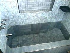 Roman Style Tub, Tile Bathtub, Custom Tile Bathtub, and Roman Tub. Concrete Bathtub, Diy Bathtub, Bathroom Tub Shower, Bathtub Tile, Small Bathroom, Garden Bathtub, Diy Concrete, Modern Bathroom, Tub Remodel