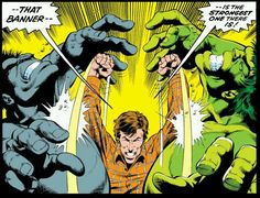 Incredible Hulk By Peter David, Dale Keown, and Bob McLeod Published December 1990 Banner tricks the grey Hulk and locks him behind the golden door with the green Hulk. Comic Book Pages, Comic Books, Planet Hulk, Hulk Comic, Comic Art, Hulk Smash, New Girlfriend, Bruce Banner, Man Thing Marvel