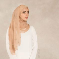 INAYAH | Dusty Pink Scattered Crystal #Hijab www.inayah.co