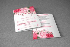 Floral Funeral Program Template  Printable by TemplateStock