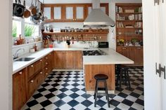 B kitchen floor