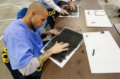 Art offers rare positive for inmates