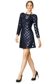 50 New Year's Eve Dresses Under $150 -- Jill Jill Stuart Down With Love Shift ($70): Just because you get cold easily doesn't mean you should sacrifice style! With long sleeves and giant, circular sequins, this dress is practical with a pop of style.