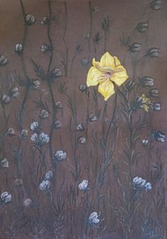 The last flower 70×50 cardboard, pastell Flowers, Painting, Art, Pastel, Art Background, Florals, Painting Art, Kunst, Paintings