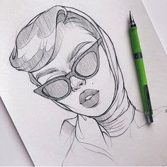 Make Your Art Successful – Create A Story With Your Drawing And Painting – Interesting Decor Girl Drawing Sketches, Art Drawings Sketches Simple, Woman Drawing, Realistic Drawings, Sketch Art, Easy Pencil Drawings, Sketchbook Drawings, Painting & Drawing, Drawing Poses