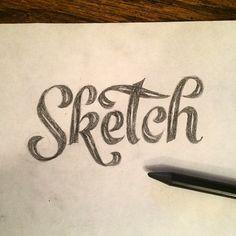 """@alessio_joseph """"Sketch"""" lettering."""