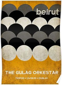Minimalist world tour poster designed for American Indie band, Beirut. Tour Posters, Band Posters, Music Posters, Illustrations, Graphic Illustration, Triangles, Concert Posters, Gig Poster, Beirut