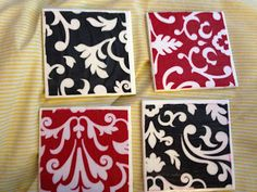 Simply Blessed Journey of Life: DIY coasters from old Thirty One fabric swatches - great gift!
