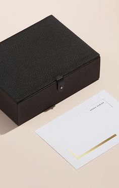 Leather Box, Leather Case, Paperless Post, Italian Leather, Essentials, Packaging, Women, Leather Pencil Case, Wrapping