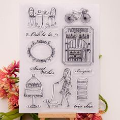 Clear stamp Scrapbook DIY photo cards account rubber stamps clear transparent seal handwork art Kid gift Free time lady dog
