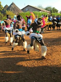 Here, is another picture of the Zulu tribe in South Africa. The people pictured are dancers in the tribe. They dress in bright colors and festive cultures and dance around the village to bring entertainment. African Dance, African Art, African History, Cultural Dance, African Tribes, Out Of Africa, Lets Dance, African Culture, African Beauty