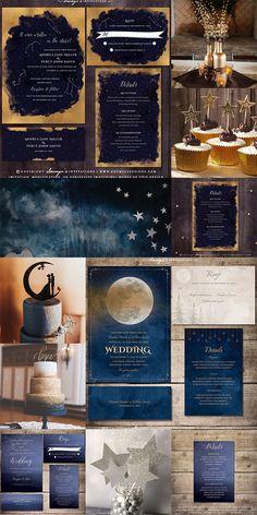 Starry Night Wedding, Moon Wedding, Celestial Wedding, Dream Wedding, Wedding Reception Design, Wedding Ideas, Wedding Stuff, Wedding Decorations, Wedding Planner Guide