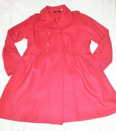 Cappotto rendigote invernale donna, rosso, xl, xxl / Woman winter coat, red, xl, xxl