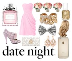 """""""Golden Date"""" by disney-dancer14 ❤ liked on Polyvore featuring Christian Dior, Mojo Moxy, Michael Kors, Forever 21, Shaun Leane, Essie and Giuseppe Zanotti"""