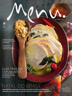 Menu Magazine - great depth with the focal points on this cover. . .