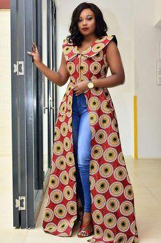 ankara dress top and jeans part 2 jessyomwa digital daily dose of style africanfashion africanfashionaccessories africanfashionmenswear - The world's most private search engine Ankara Dress Styles, African Print Dresses, African Print Fashion, Africa Fashion, African Dress, Ankara Tops, African Prints, Kitenge Designs Dresses, Ankara Blouse