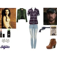 Bobby Singer by madison-mh on Polyvore featuring Mode, Steve Madden, Pamela Love, Gorgeous Cosmetics, GRETCHEN and CIMARRON
