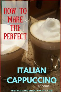 Want to create the relaxing feeling of an Italian cafe at home? This step by step recipe makes it easy to make an authentic Italian cappuccino at home. #coffeeset #turkishcoffee #turkishcoffeepot Italian Cappuccino Recipe, Italian Espresso, How To Make Cappuccino, Nespresso Recipes, Homemade Pastries, Homemade Quiche, Homemade Breads, Italian Cafe, Classic Italian