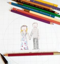 Beautiful couples look definitly cuter on hand sketches