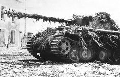 Camouflaged Panther in Normandy #worldwar2 #tanks